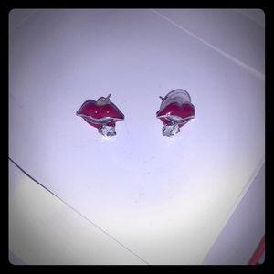 Little red lips..stud earrings